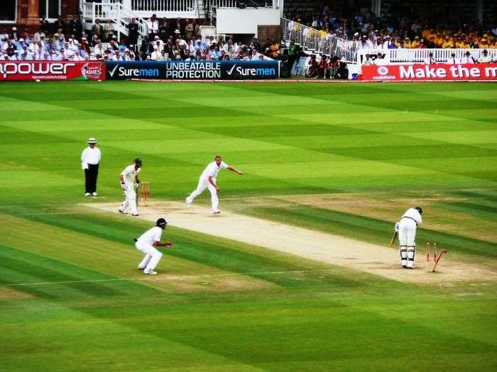 Support the winning team at an Ashes Test Match at Lords, England