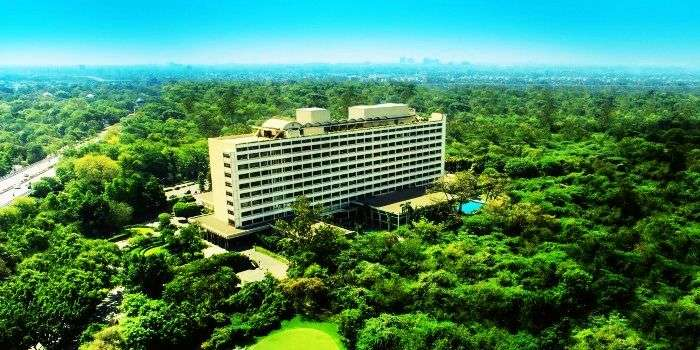 Bird's eye view of Oberoi Delhi