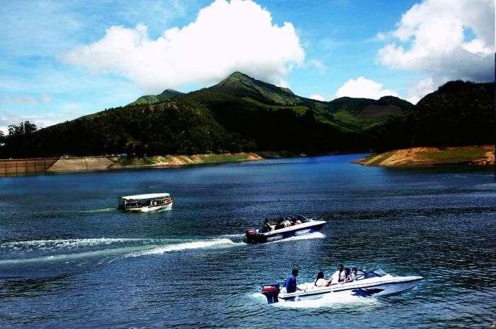 Boating in the Periyar Lake in Thekkady