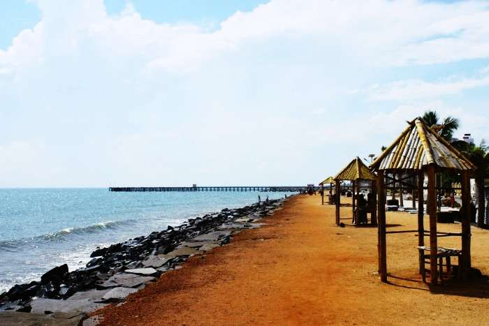 The charm of Pondicherry beach
