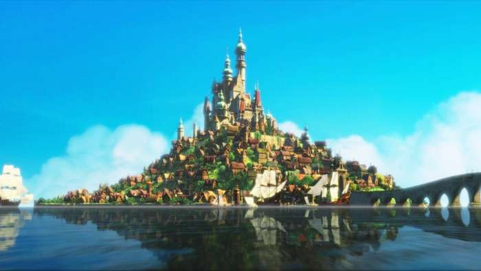 Rapunzel's palace in Tangled