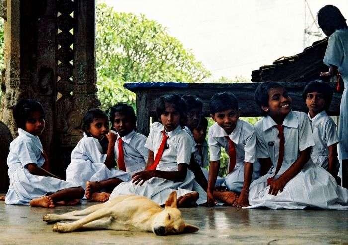 School children sri lanka