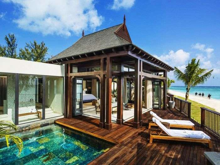 A view from one of the gorgeous rooms at St Regis Resort in Mauritius
