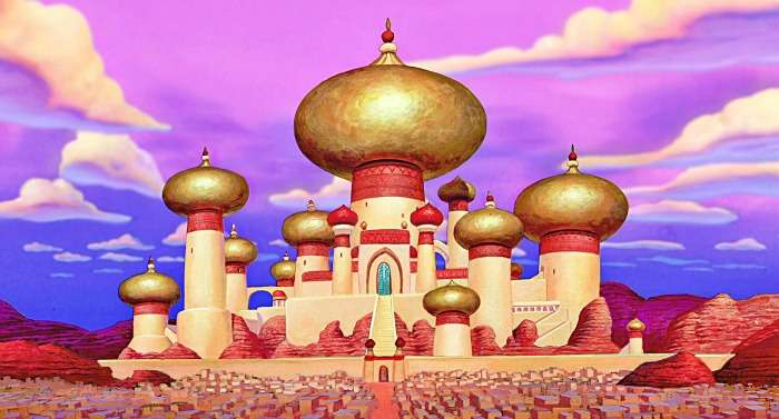 Sultan's palace in Aladdin