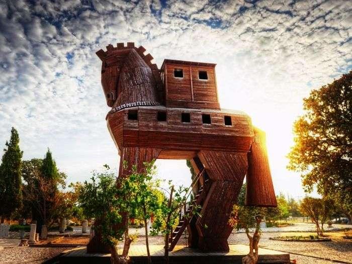 Trojan Horse at Troy in Turkey