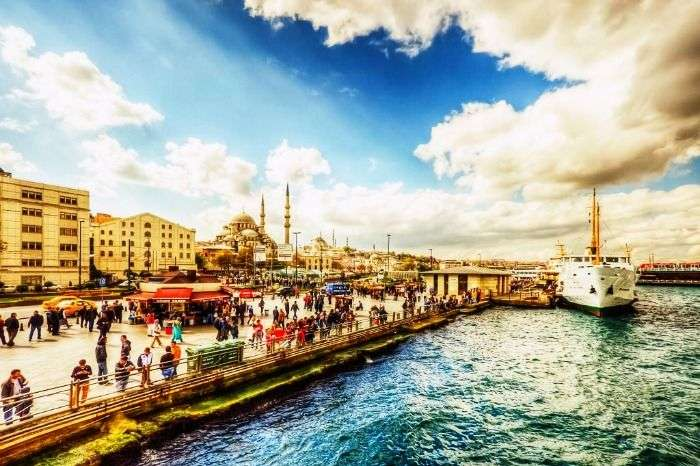the enchanting view of Turkey port