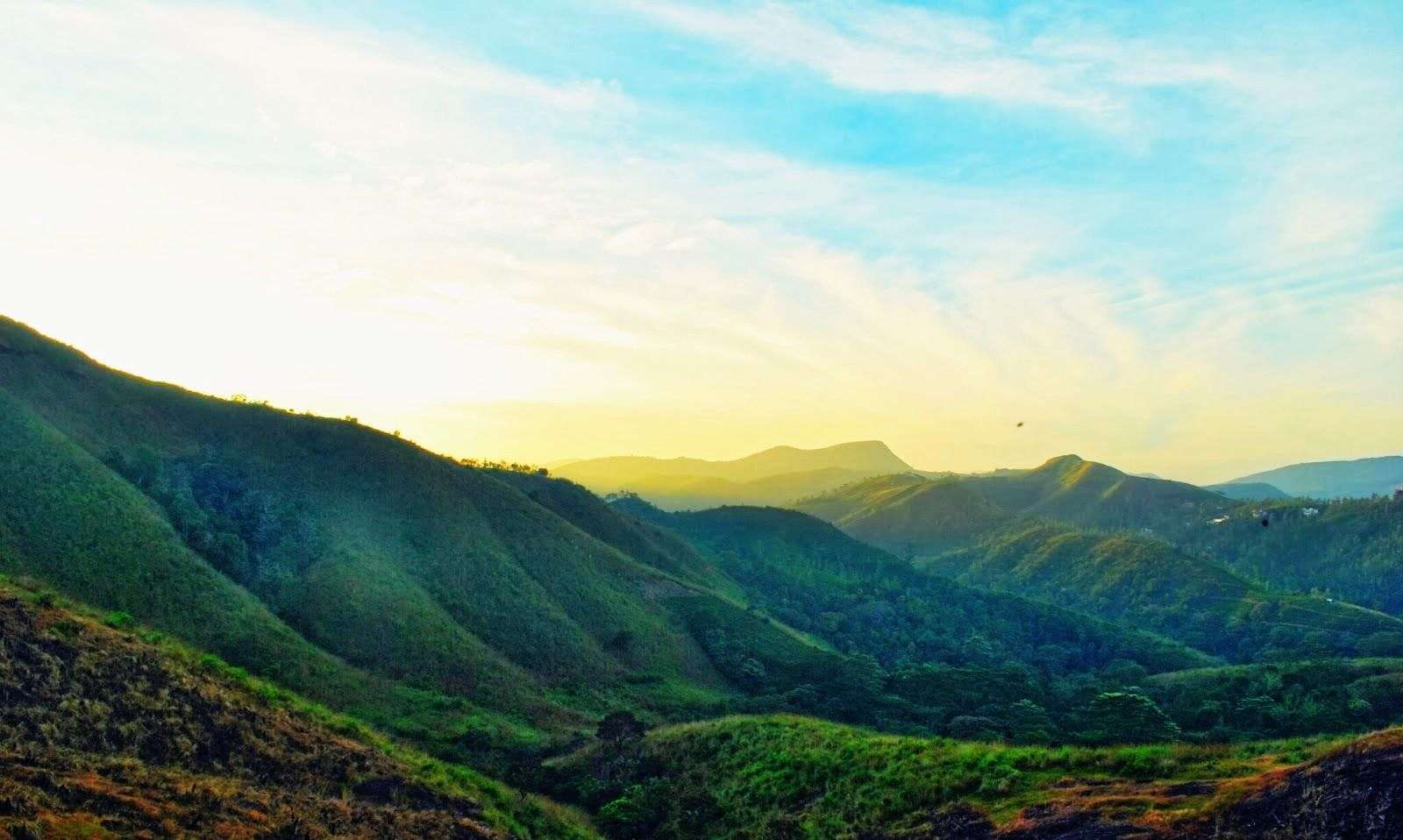 A beautiful sunrise in Vagamon