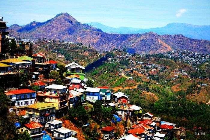 Aizawl landscape in Mizoram