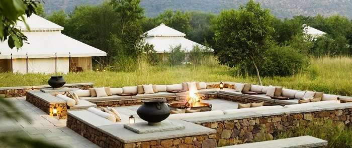 Aman-i-Khas is lauded as one of the best luxury wildlife resorts in India