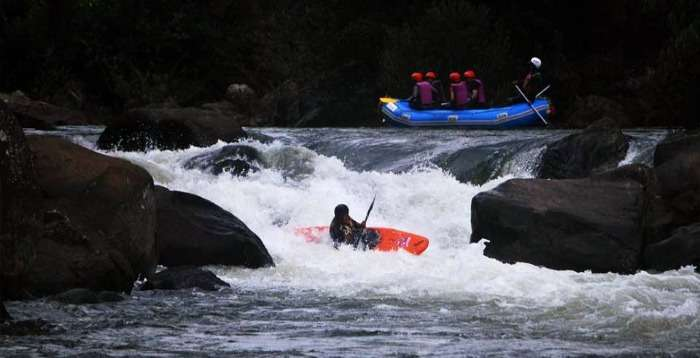 River rafting in Barapole River