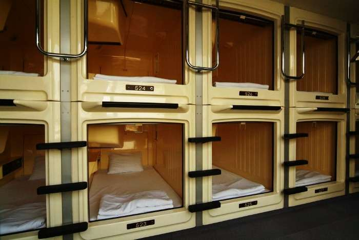 Stay in a Capsule Hotel at Tokyo, Japan