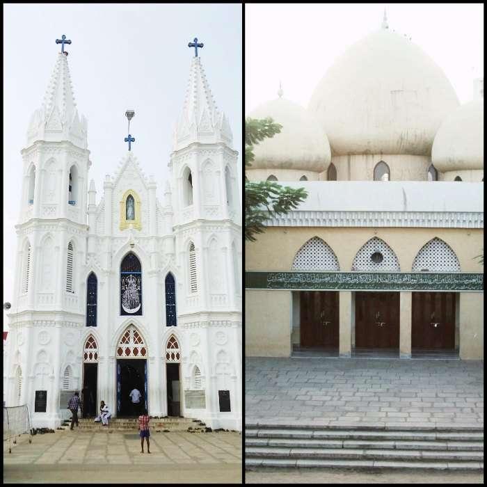 Church and Mosque in Chennai