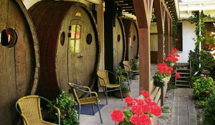 Sleep in a wine barrel at De Vrouwe van Stavoren in Netherlands