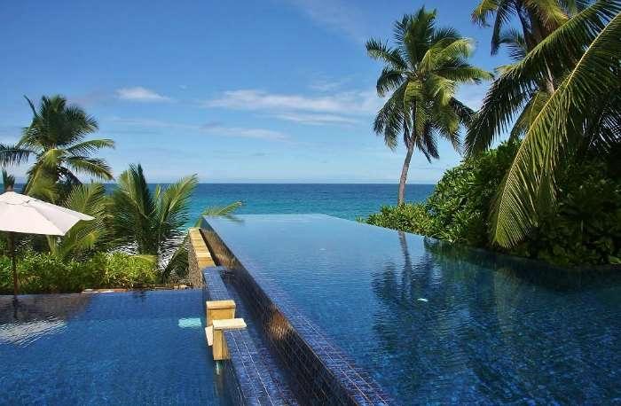 Infinity pool at Banyan Tree Seychelles