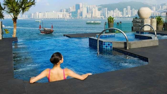 Infinity pool at Intercontinental Hong Kong