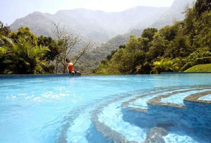 Infinity pool at Kurumba Village Resort