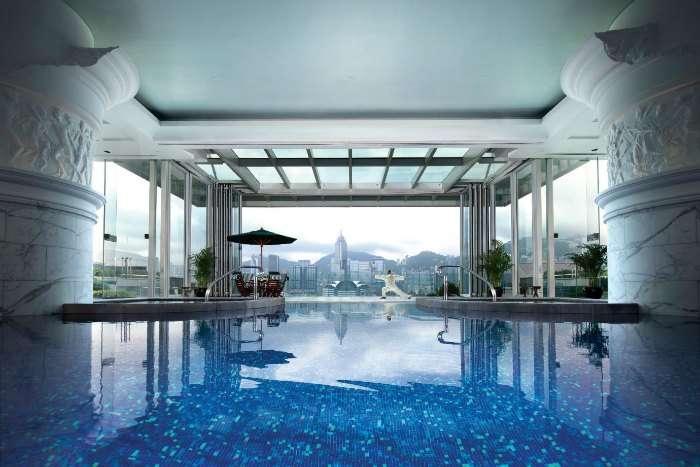 Infinity pool at Ritz Carlton Hong Kong