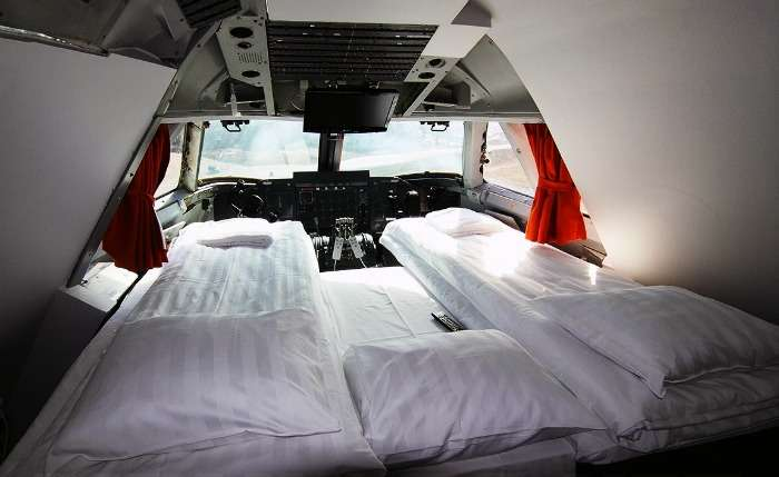 Sleep in an airplane at Jumbo Hostel in Stockholm