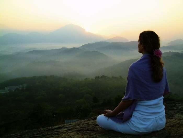 Meditating in Kasauli