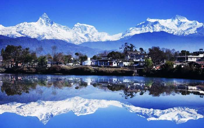 The majestic view of the Kashmir Valley
