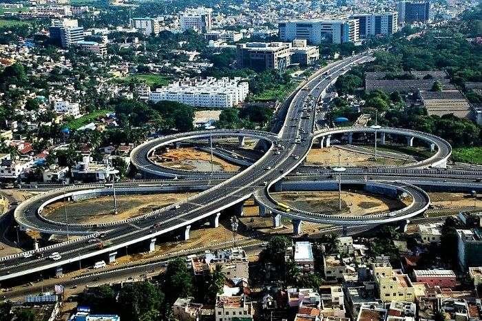 Kathipara bridge of Chennai