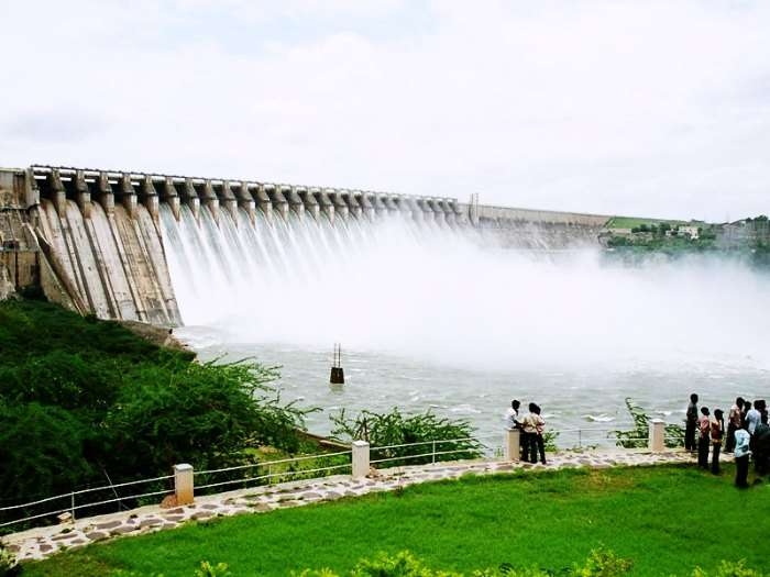 The rivers with the majestic Nagurjuna Sagar Dam
