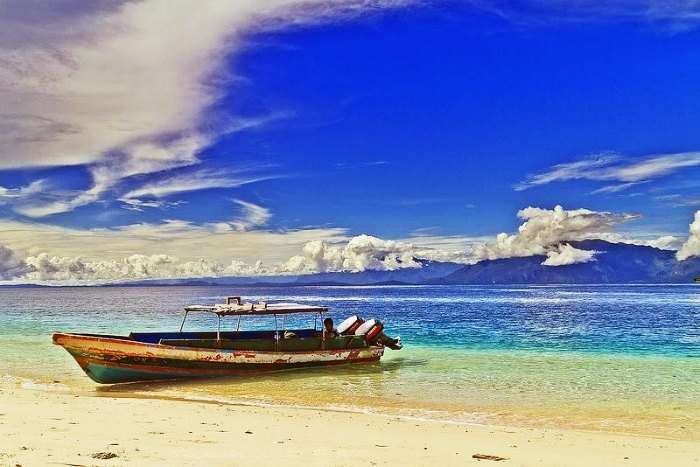 Ora Beach in Indonesia