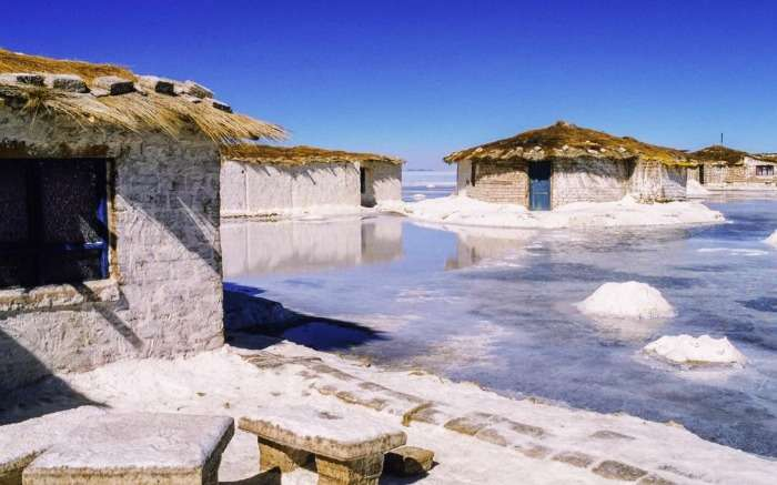 The salt hotel Palacio de Sal in Bolivia