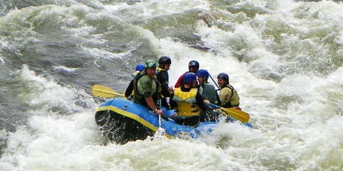 Stretches of Bhagirathi is exemplary for river rafting in India