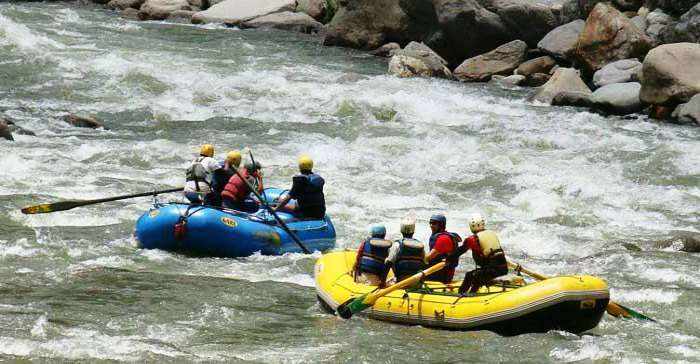 Spiti river is one of the best destinations for river rafting in India