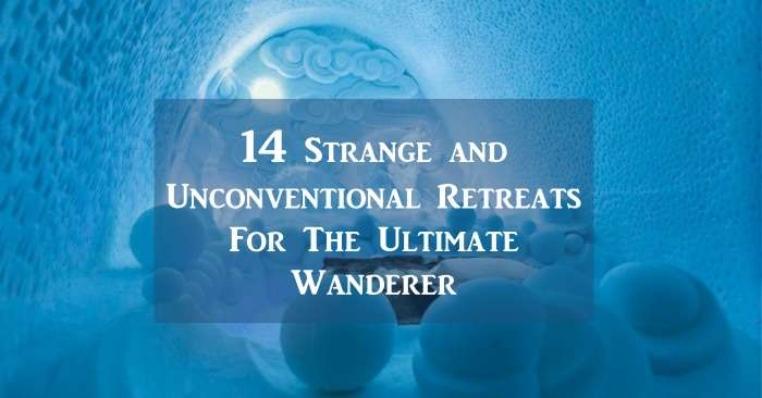 Starnge and unconventional hotels cover