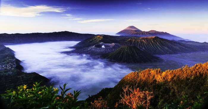 Sunrise at Mount Bromo in Indonesia