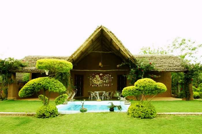 The front view of Surjivan Resort