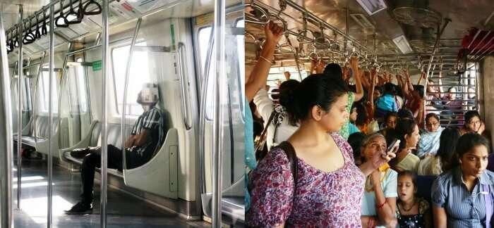 AC metro vs Non AC Local