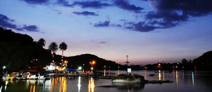 An evening in Mount Abu during rainy season