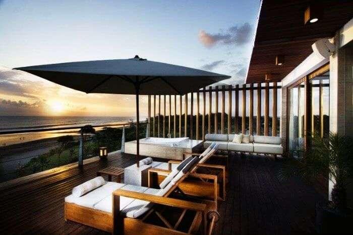 The excellent view of Anantara Seminyak Resort & Spa in Bali