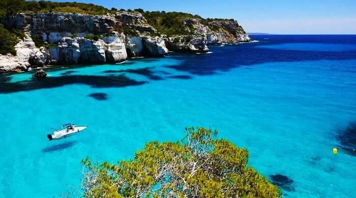 Another romantic honeymoon destination in the world is Balearic Island in Spain
