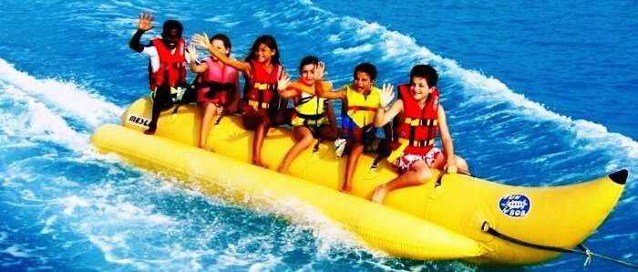 Banana boat rides is one of the easiest water sports in Thailand