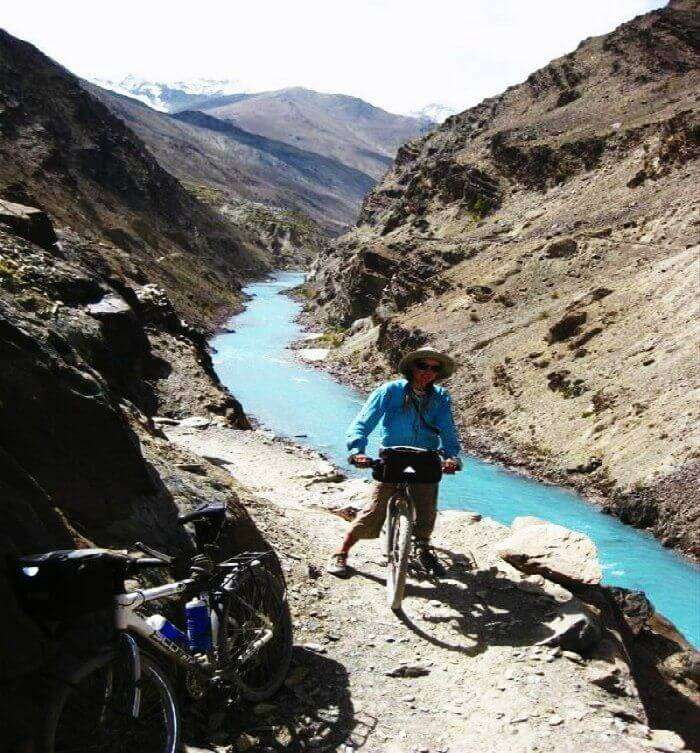 Cycling on the Zanskar trail