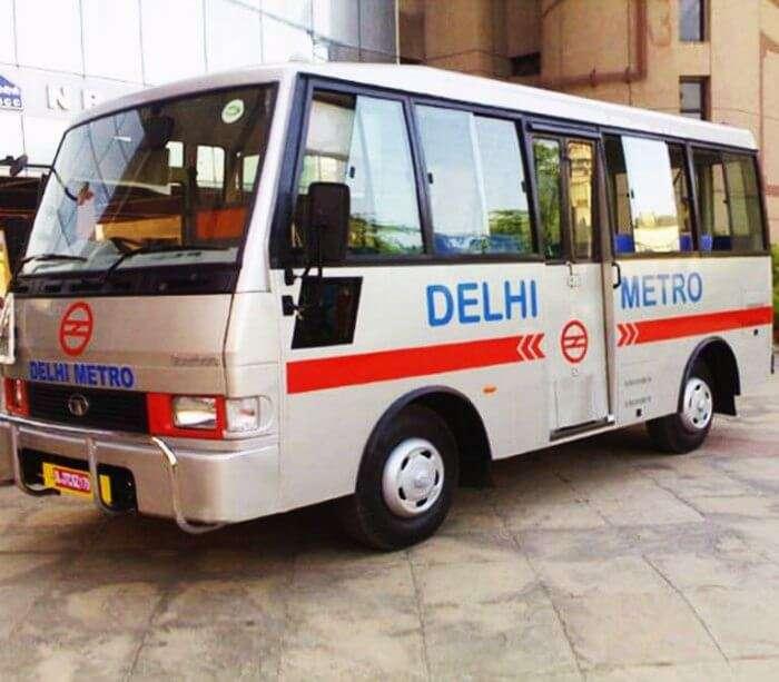 Delhi metro feeder bus service