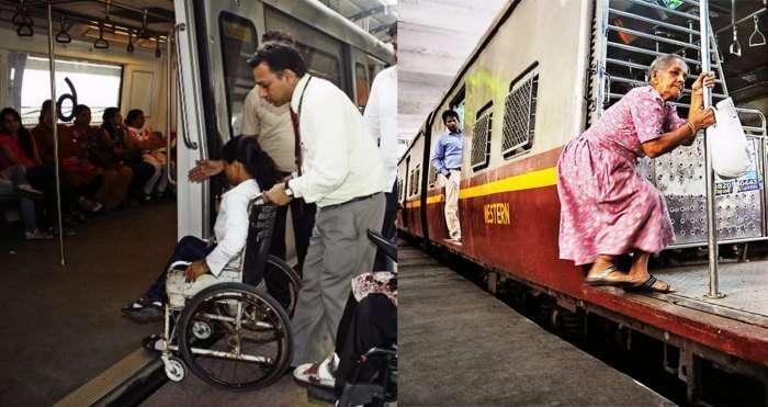 Disable friendly Delhi metro vs uncomfortable Mumbai locals