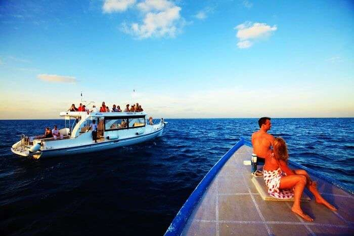 Safari boats in Maldives