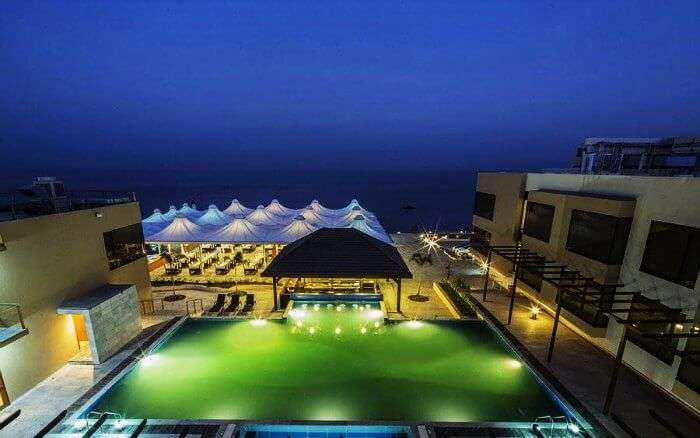 Gold beach in Daman is one of the most luxurious resorts near Mumbai with breathtaking sea view