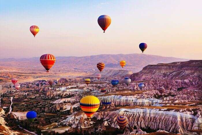 Cappadocia is the best places to visit in Turkey for Honeymoon