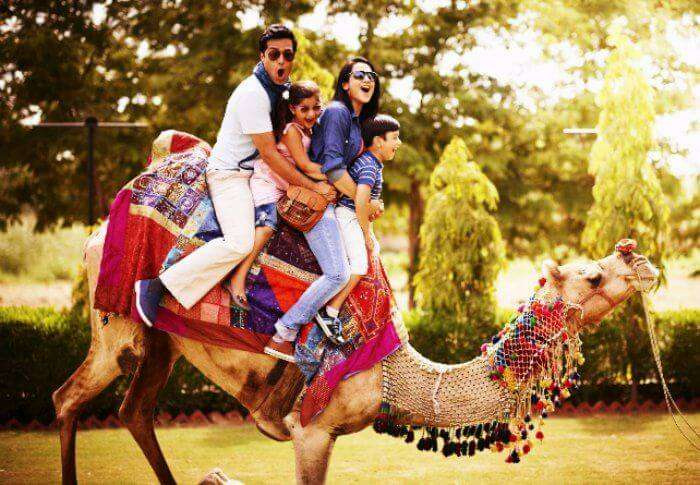 Camel safari in India, one of the places to visit during eid