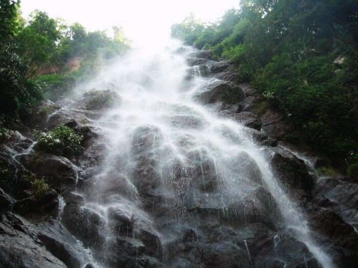 Kaitiki falls are one of the best waterfalls near Hyderabad during monsoons