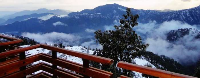 View of the majestic peaks from Kanatal