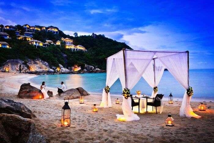 A romantic honeymoon on the beaches on Koh Samui