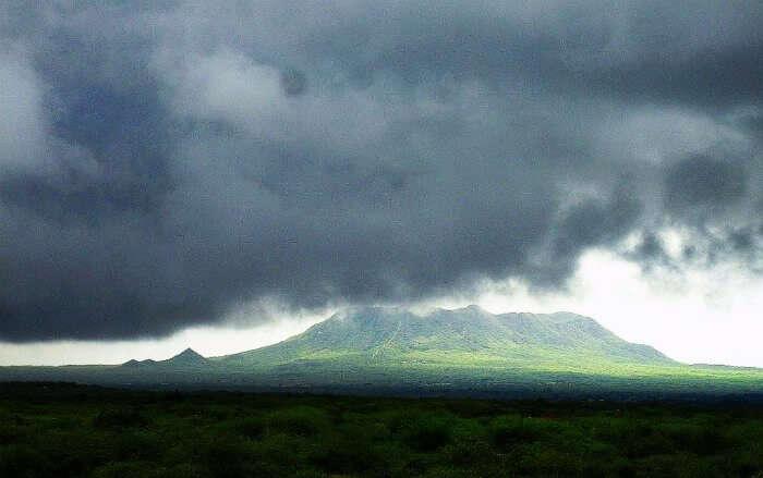 Monsoon Clouds over Dhinodhar hill Kutch