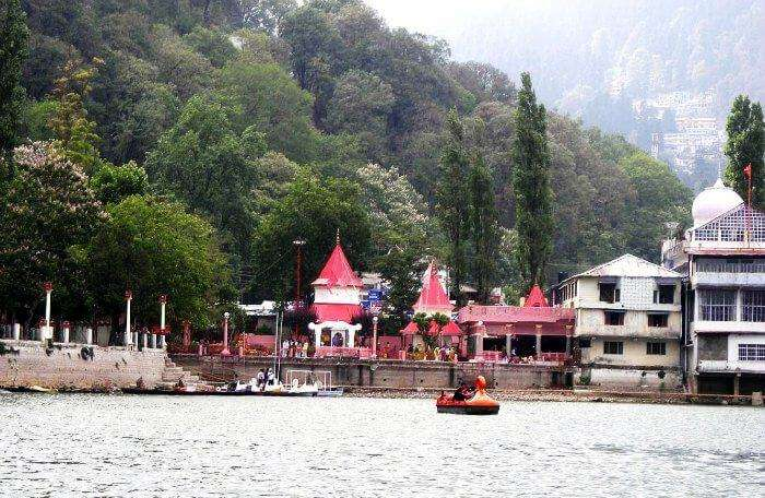 Naina devi temple is a beautiful religious place to see in Nainital